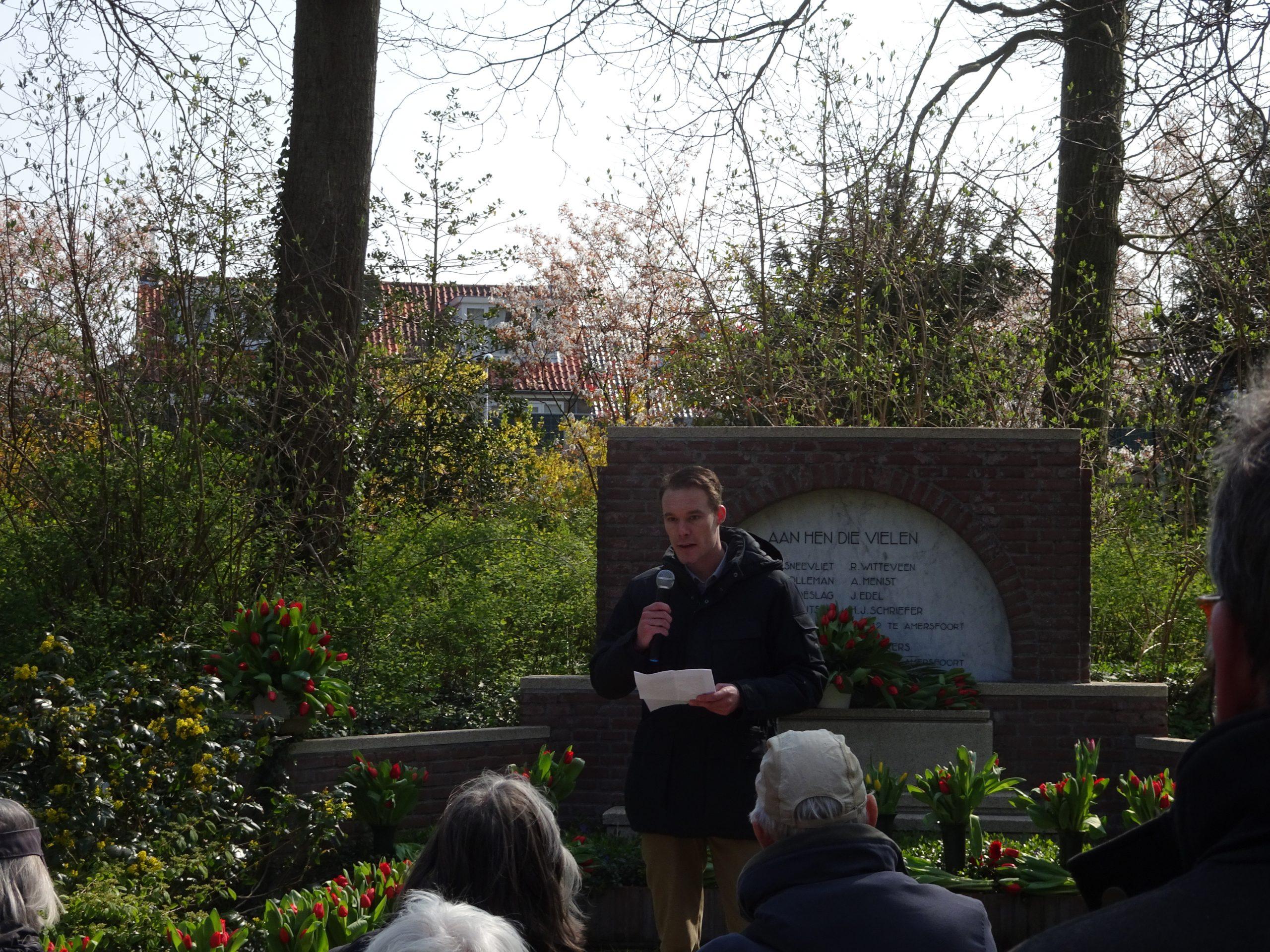 Herdenking 2019 Westerveld_2 Jeroen van der Starre tijdens de herdenkingsbijeenkomst